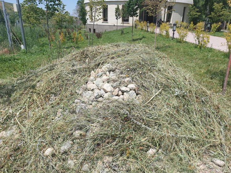 Атамбаевдин үйүнүн короосуна төгүлгөн таштар талкууга алынды