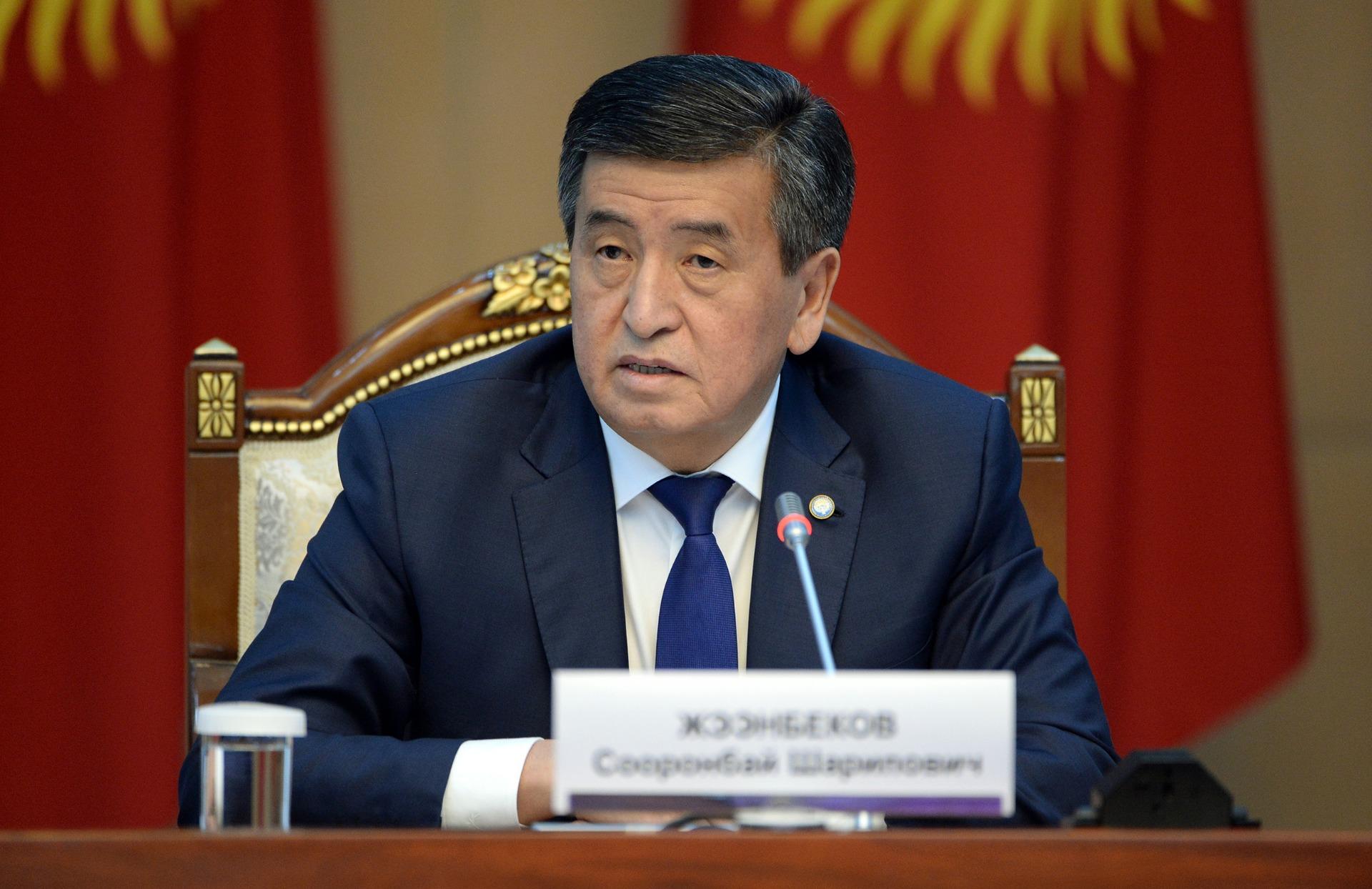Сооронбай Жээнбеков Баткенге иш сапары менен кетти