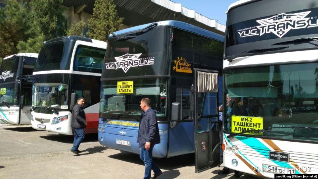 Өзбекстан-Казакстан дагы бир автобус каттамы ишке кирди