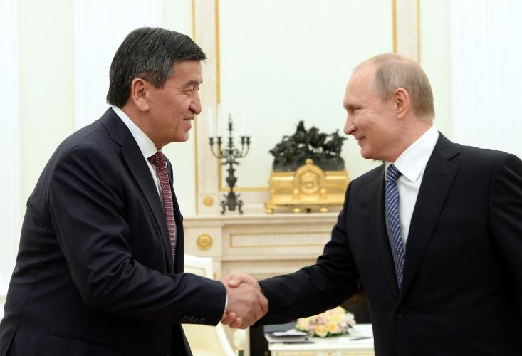 Жээнбеков Москвада Путин менен жолугушту