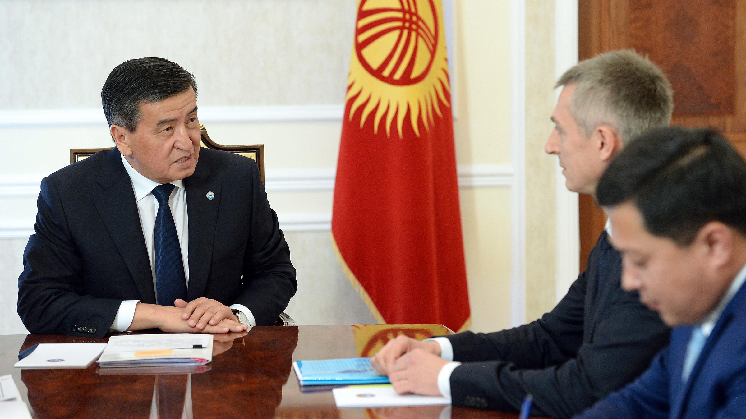 Жээнбеков Евразия турукташтыруу жана өнүктүрүү фондунун директору Широковду кабыл алды