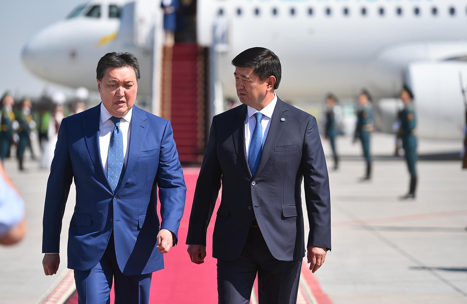 Казакстандын премьер-министри Аскар Мамин Кыргызстанга келди