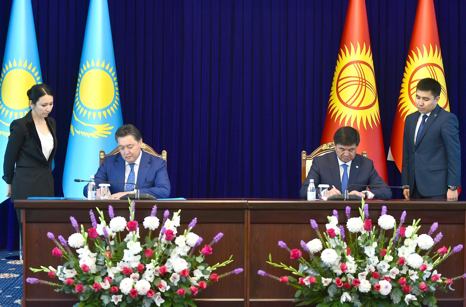 Кыргызстан менен Казакстандын премьер-министрлери кол койгон документтердин тизмеси