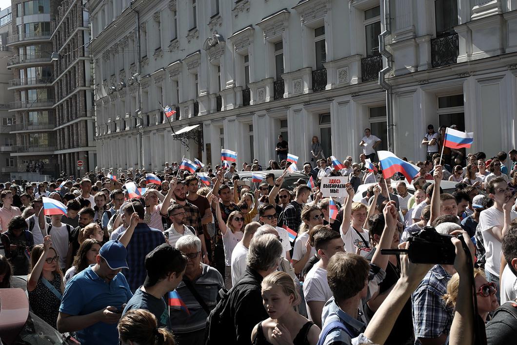 Москвада ишембиде митингде кармалгандар соттолууда