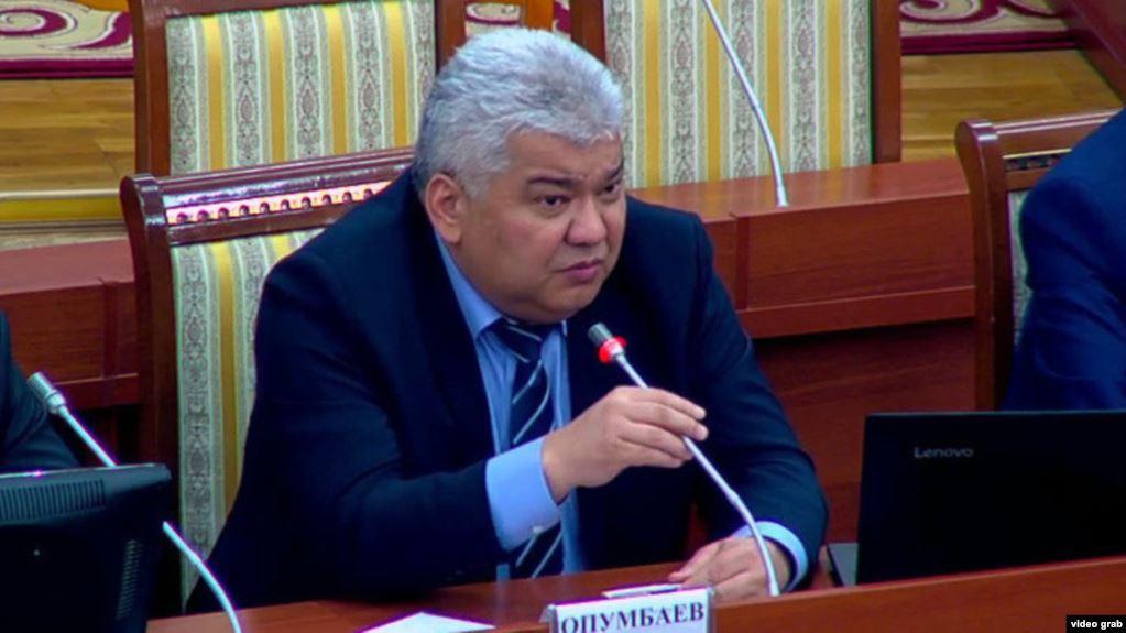 """Опумбаев: """"Альфанын"""" балдарын ургандарды камагандан кийин кызматтан кетем"""