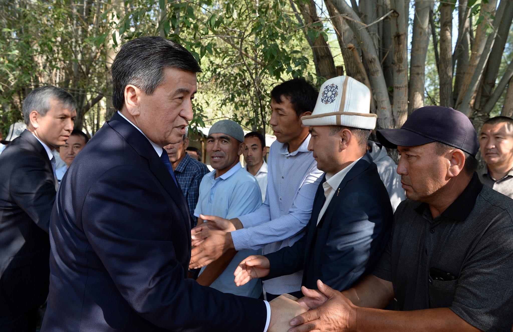 Сооронбай Жээнбеков эки күндүк иш сапары менен Нарын облусуна барат