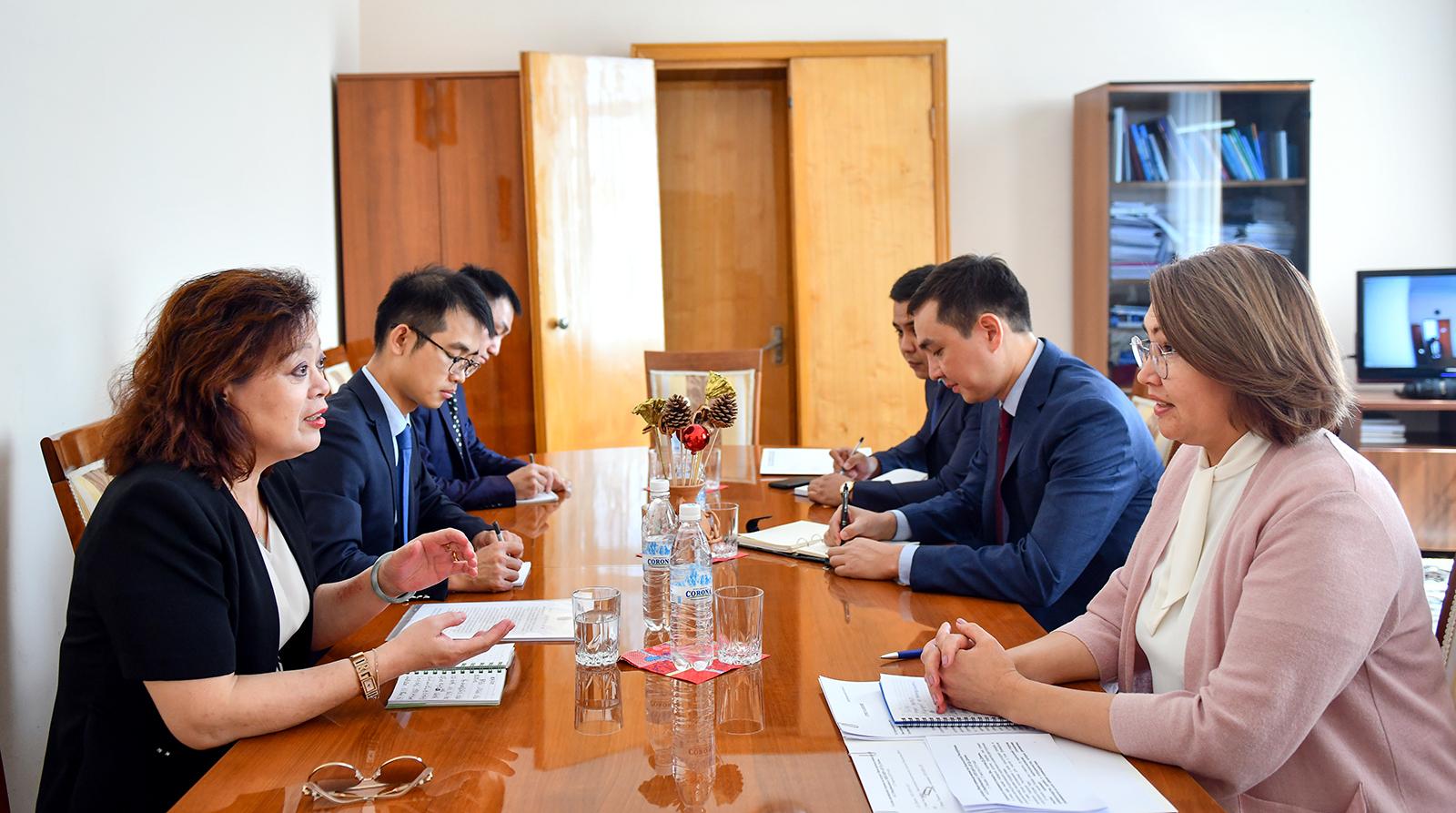 Алтынай Өмүрбекова Кытайдын Кыргызстандагы элчиси Ду Дэвэнь менен жолукту