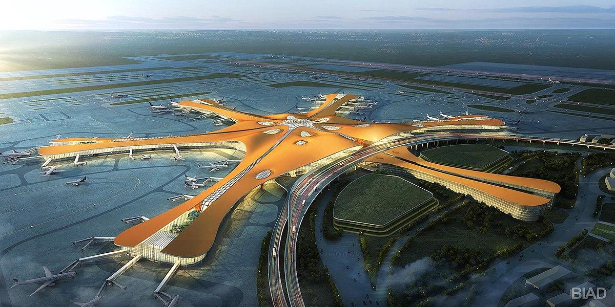 Кытайда курулган дүйнөдөгү эң чоң аэропорт ишке кирди (фото)