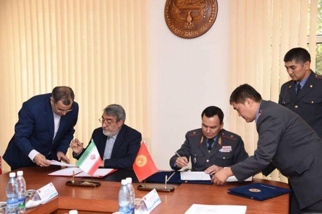 Кыргызстан менен Ирандын ички иштер министрлери жолукту