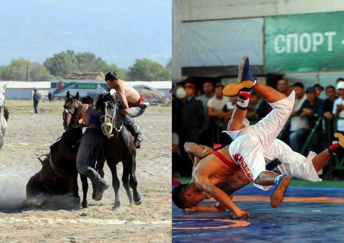 Талас. Көчмөндөр оюну: Кыргыз күрөшү жана эр эңиш оюндары аяктады