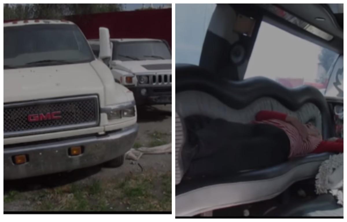 Кезинде популярдуу болгон лимузиндер селсаяктар байырлаган жайга айланды (видео)