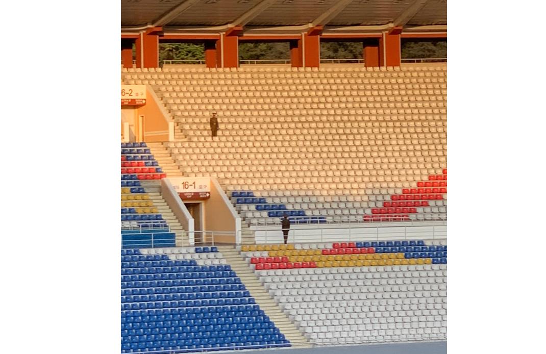 Түндүк жана Түштүк Кореянын футболчулары Пхенянда 29 жылдан кийин беттешти. Стадионго эч ким киргизилген жок (фото, видео)