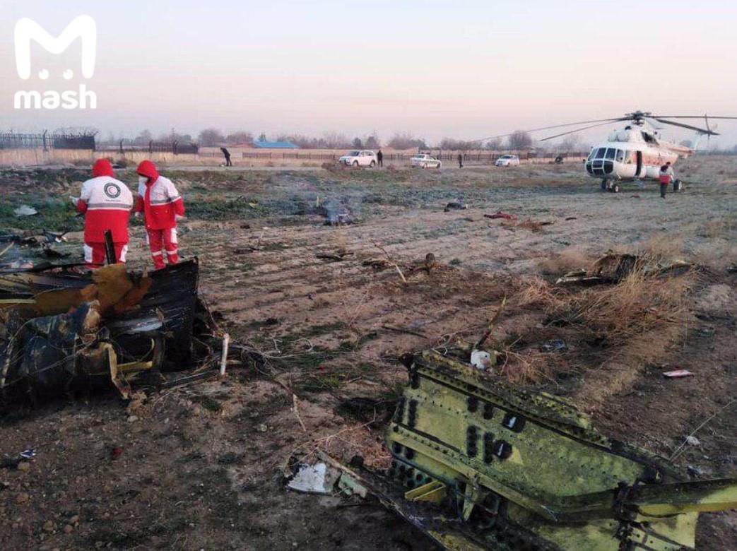 Украиналык авиалайнер иран ракетасы тарабынан атып түшүрүлгөнү болжолдонууда