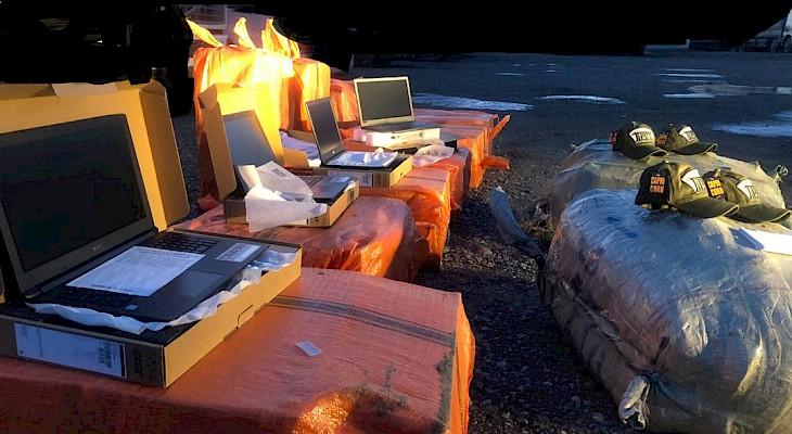 118 даана ноутбук! Аткезчилик менен ташылып бараткан жүк кармалды