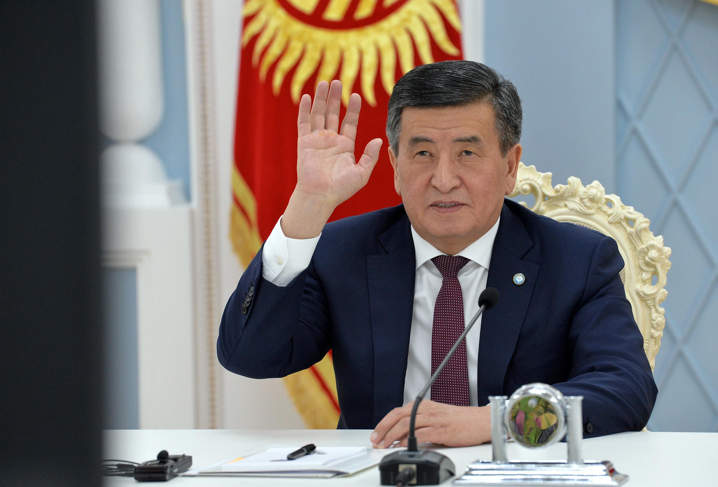 Президент Евразиялык экономикалык кеңешинин видеоконференция жыйынына катышты