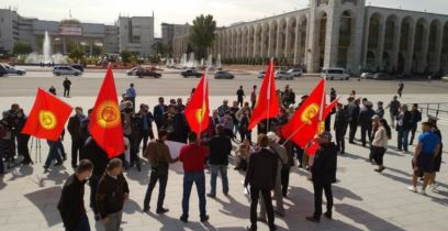Шайлоо-2020: Бишкекте «Баарына каршы» аттуу акция өттү