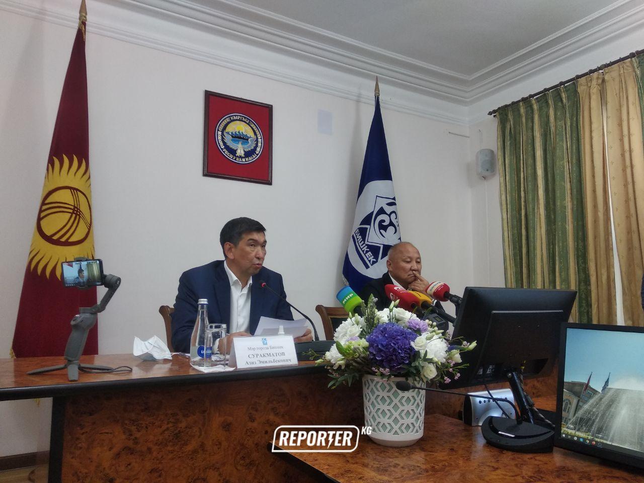Түз эфир: Бишкек мэри Суракматов отставкасы тууралуу билдирүү жасоодо
