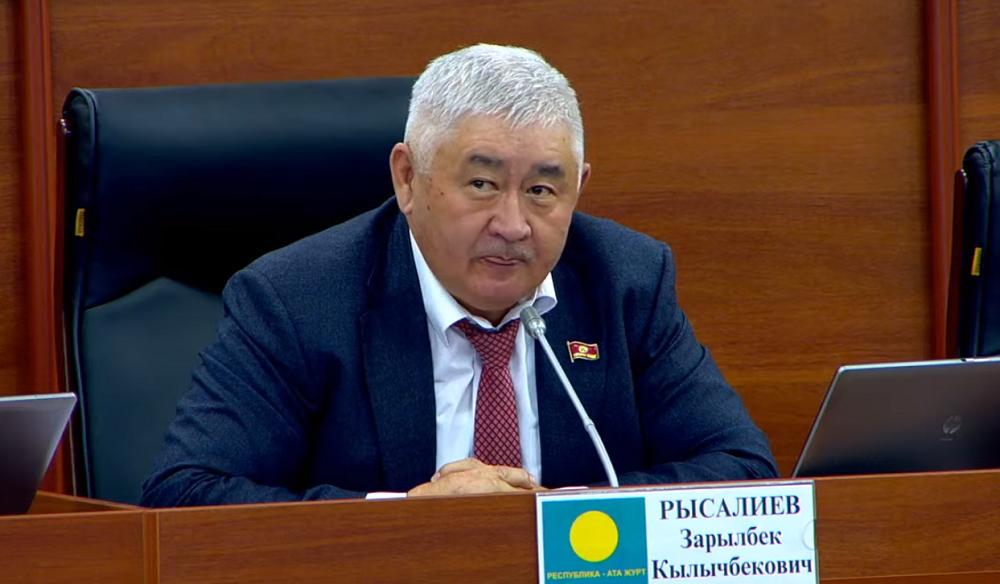 Зарылбек Рысалиев: Текебаевдин үрөөнөк иттери үрбөгүлө