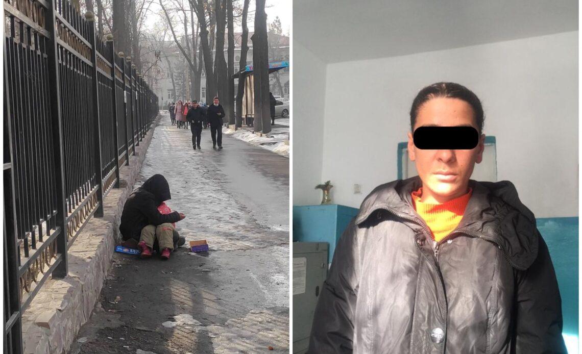 Милиция Бишкекте аял өлгөн баласы менен тилемчилик кылып жатат деген маалыматка жооп берди