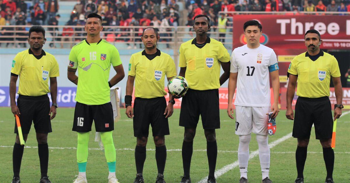 Футбол: Кыргызстан менен Непалдын олимпиадалык курамалары тең чыкты