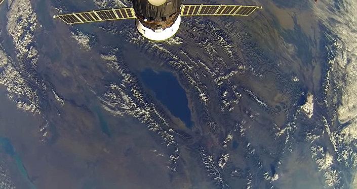 Российский космонавт снял Иссык-Куль с борта МКС — видео