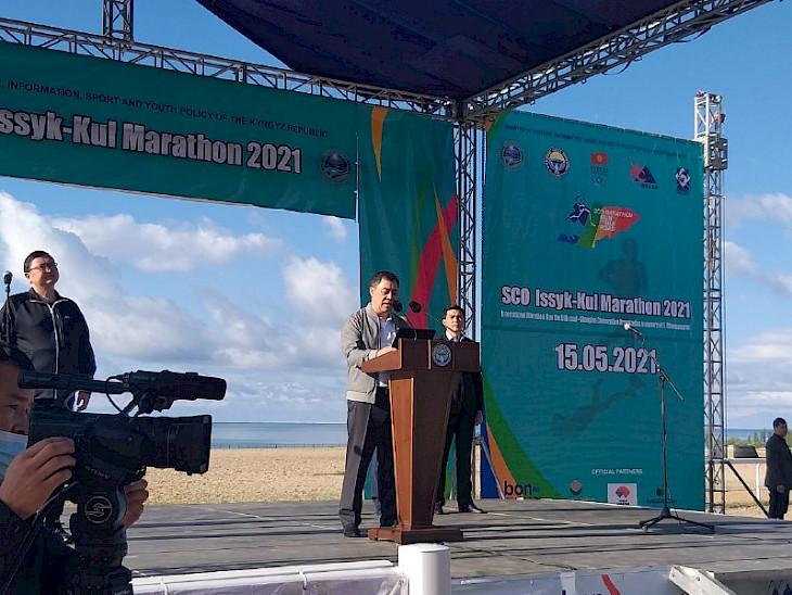 Президент эл аралык Ысык-Көл марафонуна старт берди