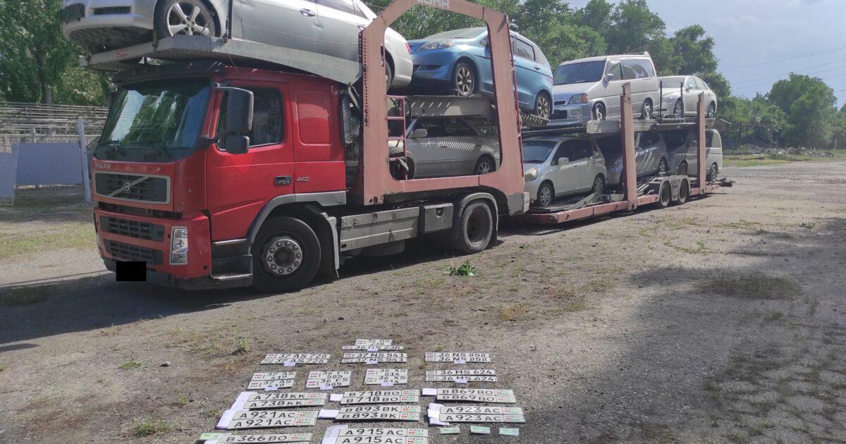 Фото — ГКНБ нашел на кыргызско-казахской границе схему ввоза контрабандных авто из Абхазии