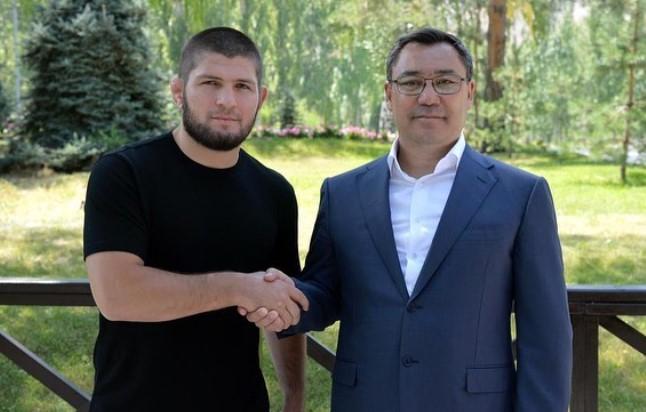 Фото – Садыр Жапаров встретился с Хабибом Нурмагомедовым