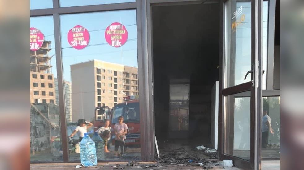 Бишкек: Сулуулук салондон өрт чыкты
