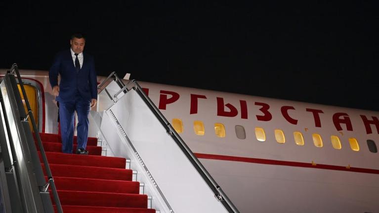 Садыр Жапаров прибыл с рабочим визитом в Таджикистан