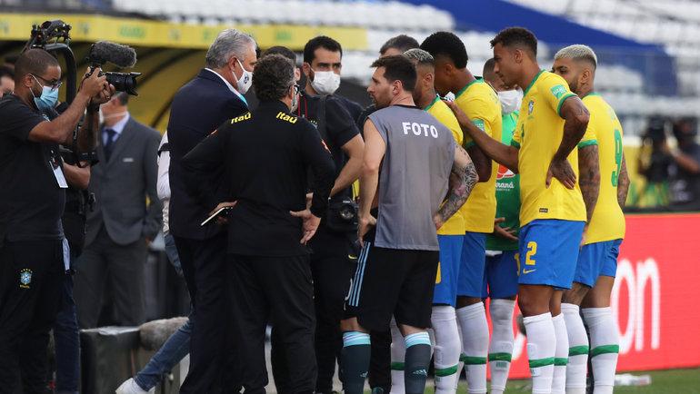 Полиция прервала матч между Аргентиной и Бразилией, чтобы депортировать аргентинских игроков